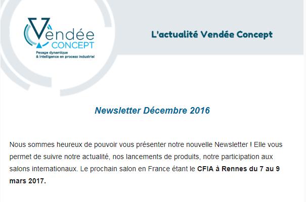 Newsletter Décembre 2016