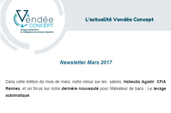 Newsletter mars 2017