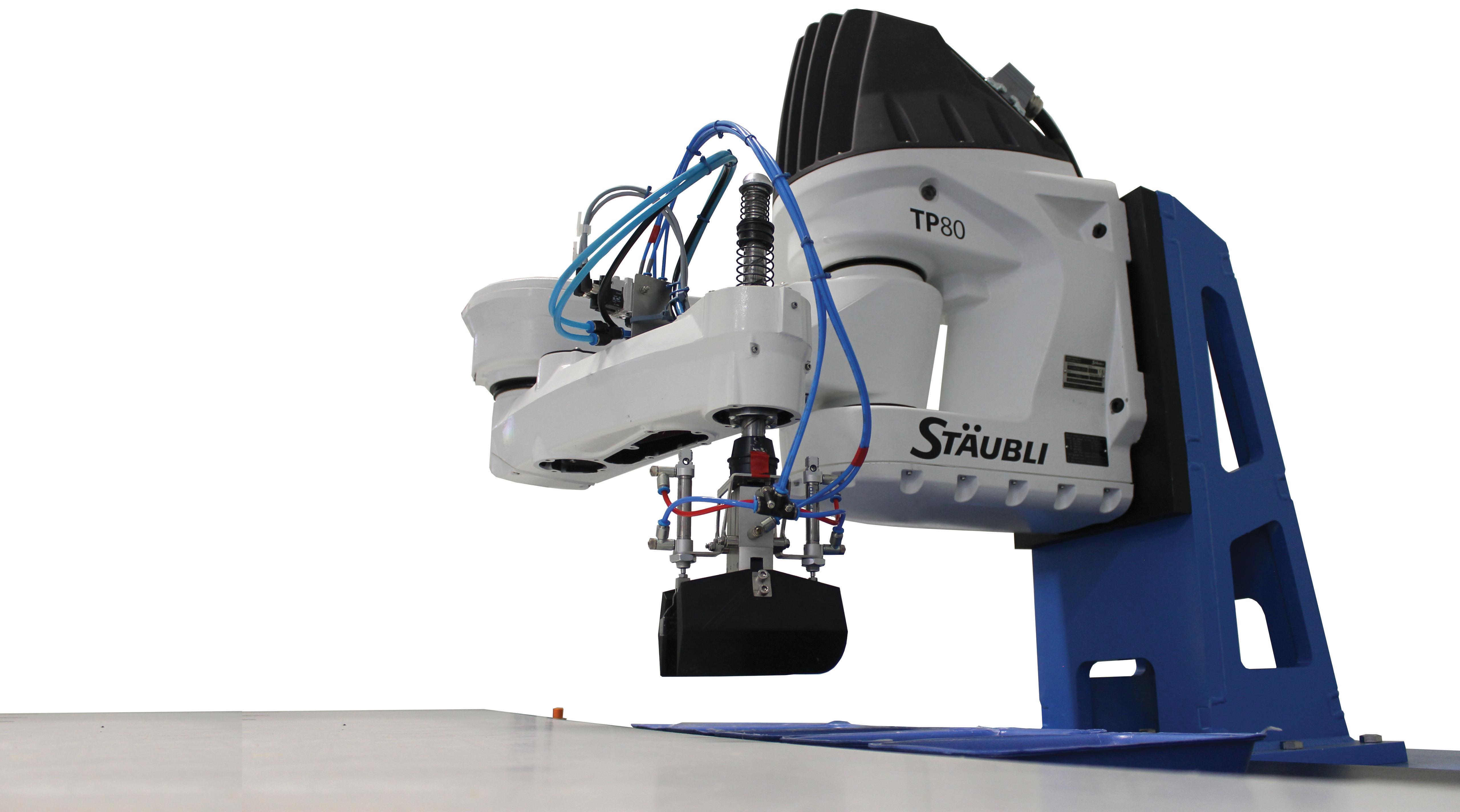 Robot de mise en barquette poids fixe